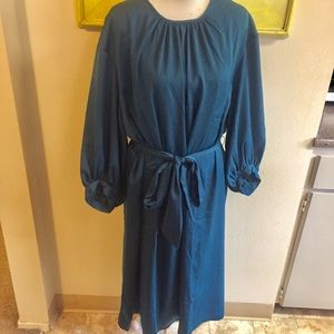 Who what wear satin dress peacock teal Sz 3X